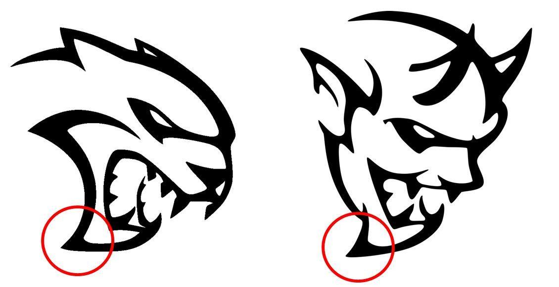 ... Similarities Between the Dodge Demon & Hellcat Logos | The News Wheel