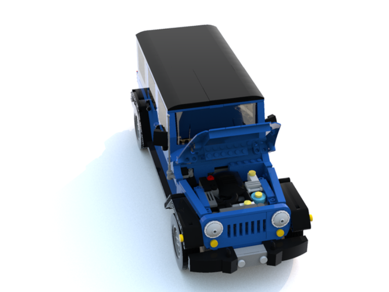 The removable hardtop for the LEGO WranglerPhoto: LEGO Ideas