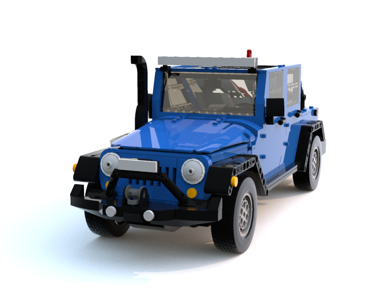 The LEGO Jeep Wrangler JK with added accessories Photo: LEGO Ideas