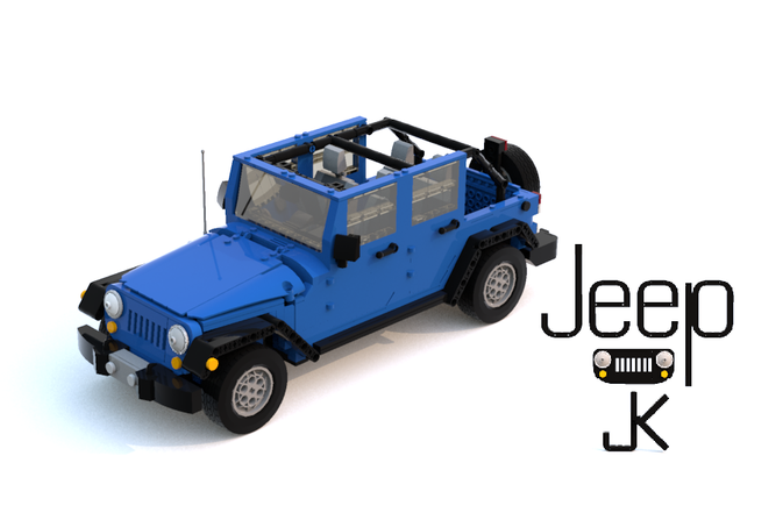 The LEGO Jeep Wrangler JK project Photo: LEGO Ideas