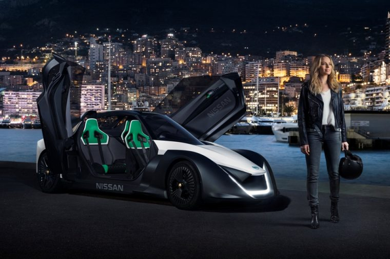 Margot Robbie and the Nissan BladeGlider