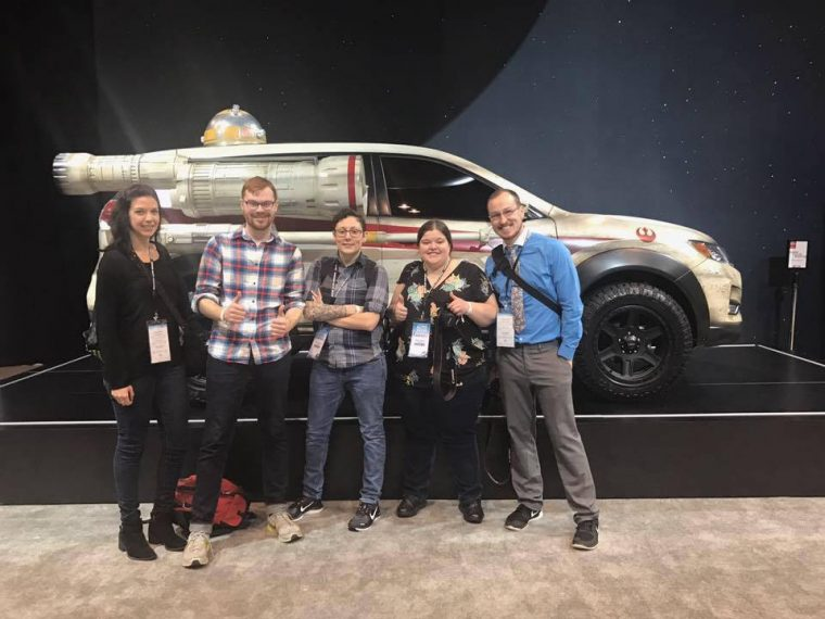 The News Wheel's Chicago Auto Show Team at the Nissan Booth