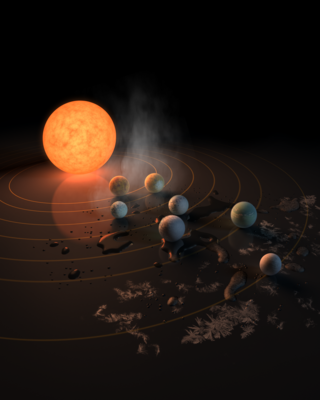 TRAPPIST-1 Exoplanets artist rendering