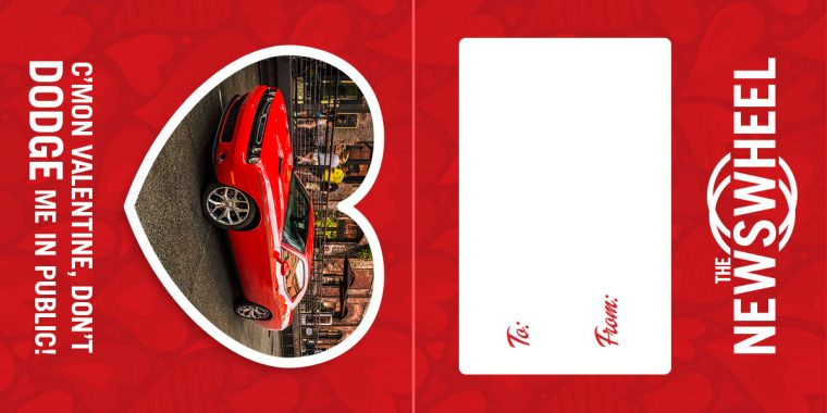 The News Wheel Free Printable Custom Valentine Cards car brands Dodge