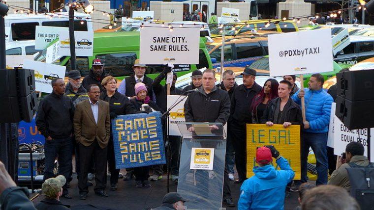 Uber Protest in Portland