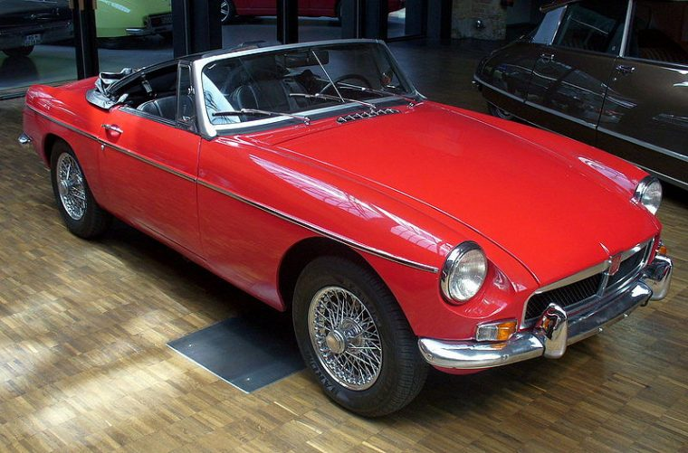 1967 MGB Roadster red