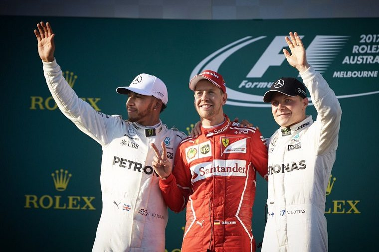 2017 Australian Grand Prix podium