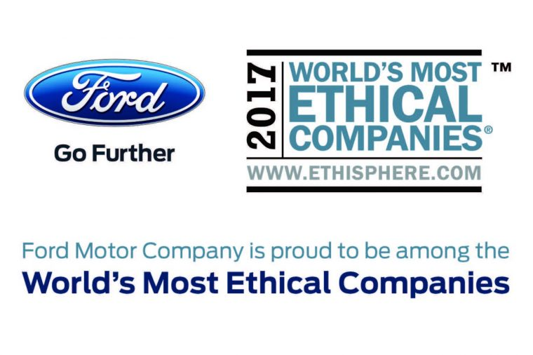 2017 Ethisphere World's Most Ethical Companies Ford