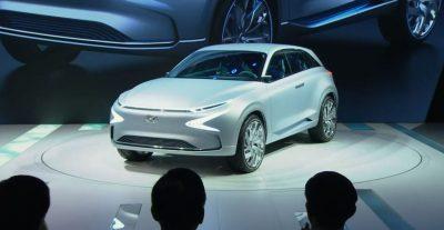 2017 Geneva Motor Show Hyundai reveal presentation FE Fuel cell concept SUV