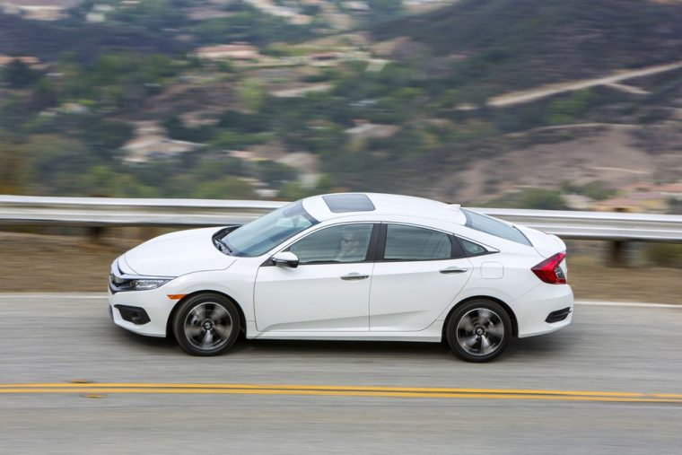 The 2017 Honda Civic sedan carries a starting MSRP of $18,740 and comes standard with a Multi-Angle Rearview Camera
