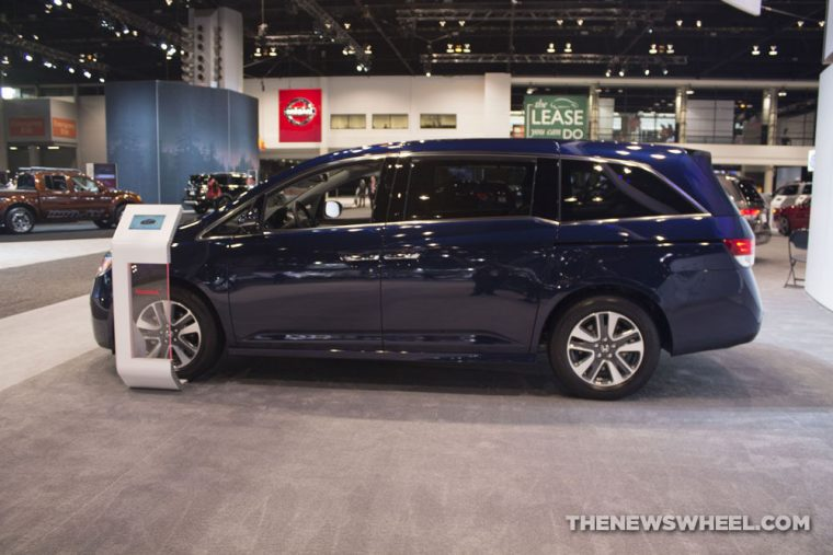 The 2017 Honda Odyssey carries a starting MSRP of $29,850 and earns up to 27 mpg on the highway