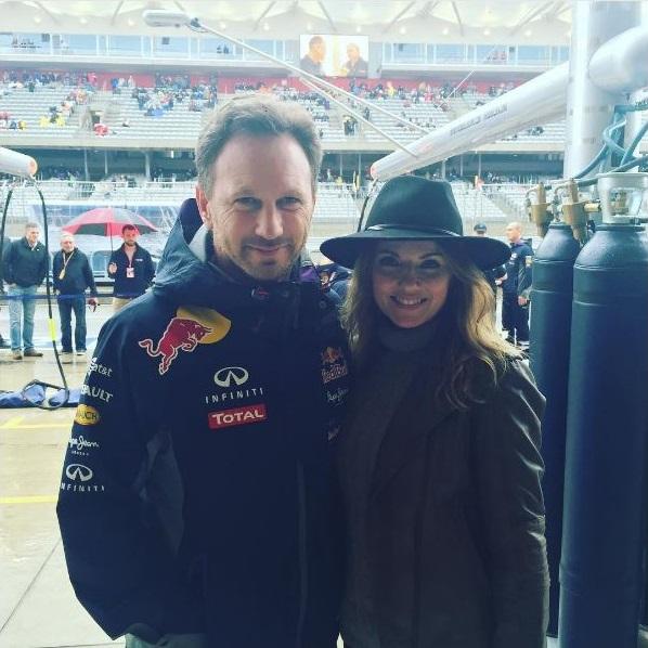 Geri and Christian Horner Red Bull Racing
