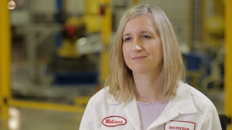 Melissa Vance, senior staff engineer for the Technical Development Center at Honda North America's Honda Heritage Center