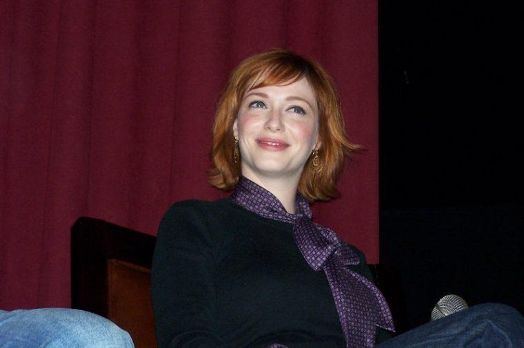 Christina Hendricks at the New York Auto Show