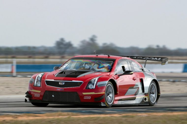 Johnny O'Connell drives the No. 3 Cadillac ATS-V.R Coupe for Cadillac Racing