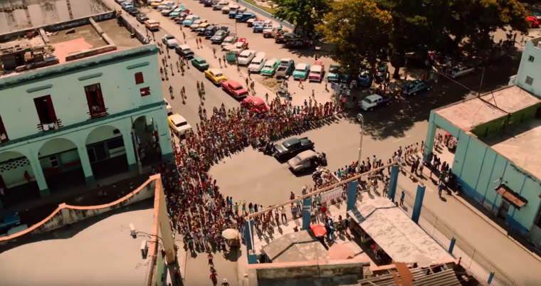 Overhead Race Shot in Hey Ma Music Video