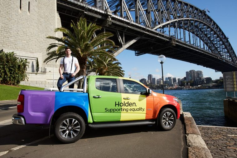 Holden Colorado rainbow livery