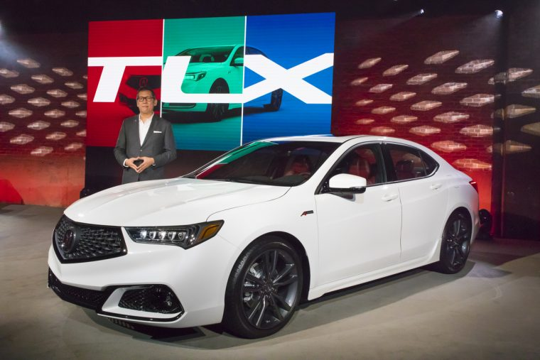 Jon Ikeda, Vice President and General Manager of Acura, reveals the 2018 Acura TLX in New York