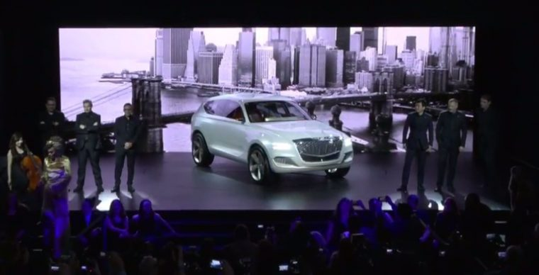 Genesis GV80 Concept SUV New York Auto Show 2017 debut reveal press conference fuel cell show