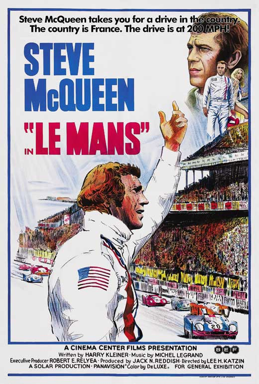 Le Mans movie review Steve McQueen film retrospective revisit 1971 race cars poster
