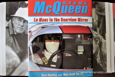 Steve McQueen Le Mans in the Rearview Mirror Book Reivew Dalton Watson Nunley Terrill cover