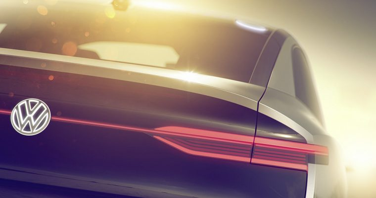 Volkswagen ID crossover coupe SUV concept car brand new teaser photo taillight