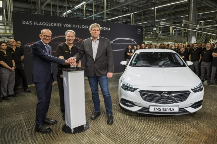 first Opel Insginia Grand Sport production