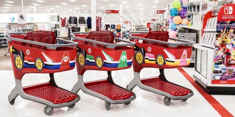 mario kart 8 deluxe target carts