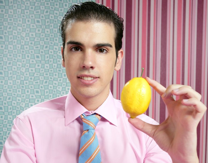 salesman holding lemon car law fruit citrus