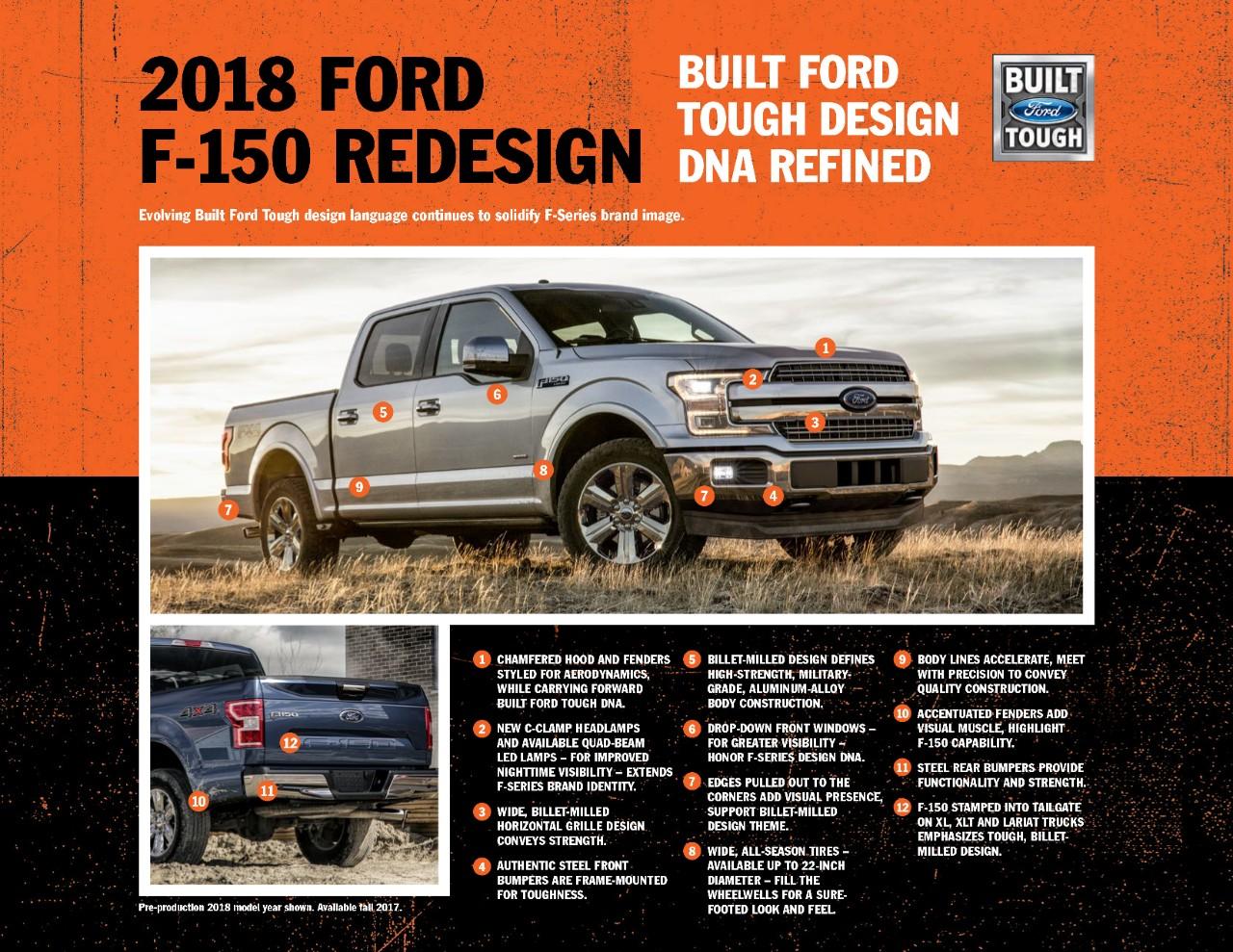 2018 ford f 150 design emphasizes proven strengths the news wheel. Black Bedroom Furniture Sets. Home Design Ideas