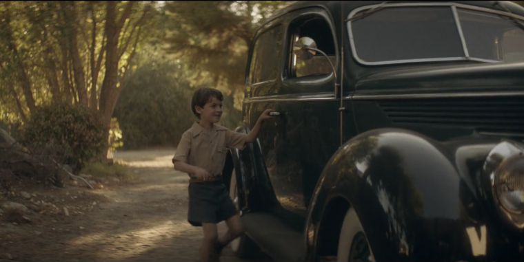 George Lazenby as a child in the Hulu documentary Becoming Bonc