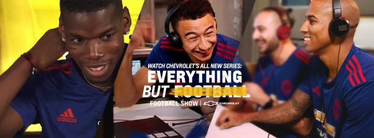 Chevrolet Twitter video series Everything But Football, Football Show, featuring Manchester United players
