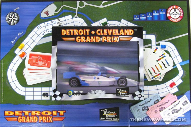 Cleveland Detroit Grand Prix Racing Board Game Review Mayfair Games car motorsports