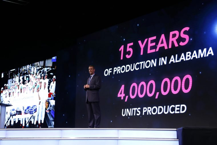 Jeff Tomko, president at Honda Manufacturing of Alabama, talks about the history of the host plant at the 33rd annual Honda Supplier Conference May 4-5, in Birmingham, Alabama.