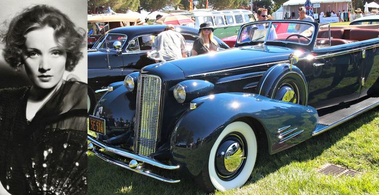 Marlene-Dietrich-1934-Cadillac-v16-Cabriolet-black