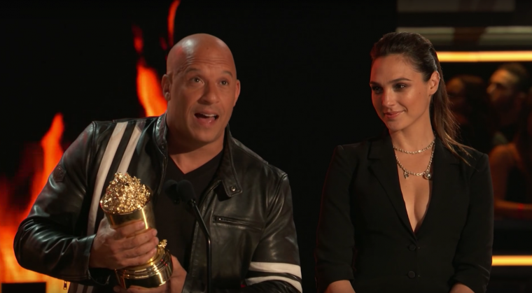 Vin Diesel Gal Gadot MTV Generation Award The Fast and the Furious
