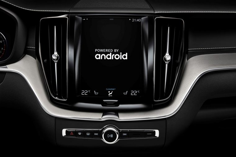 Future Volvo Android infotainment stack