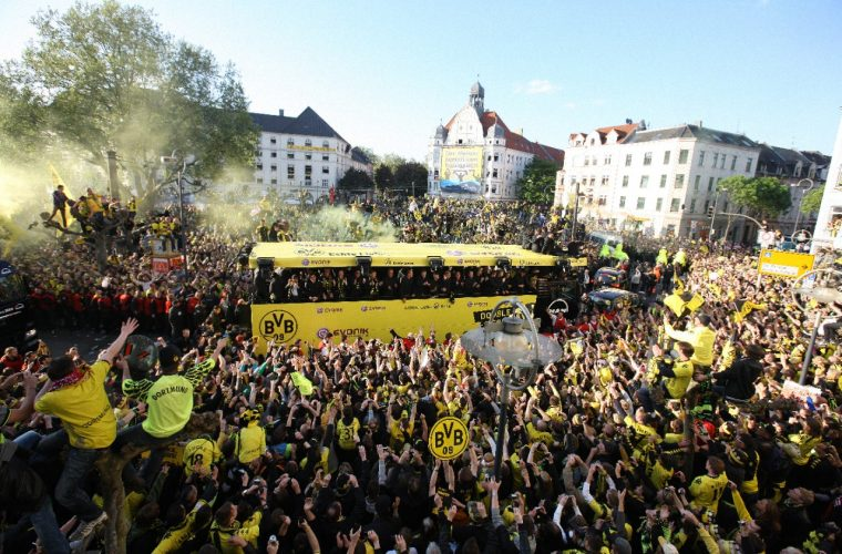 Opel Borussia Dortmund celebration