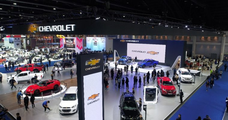 Chevrolet Bangkok International Motor Show booth