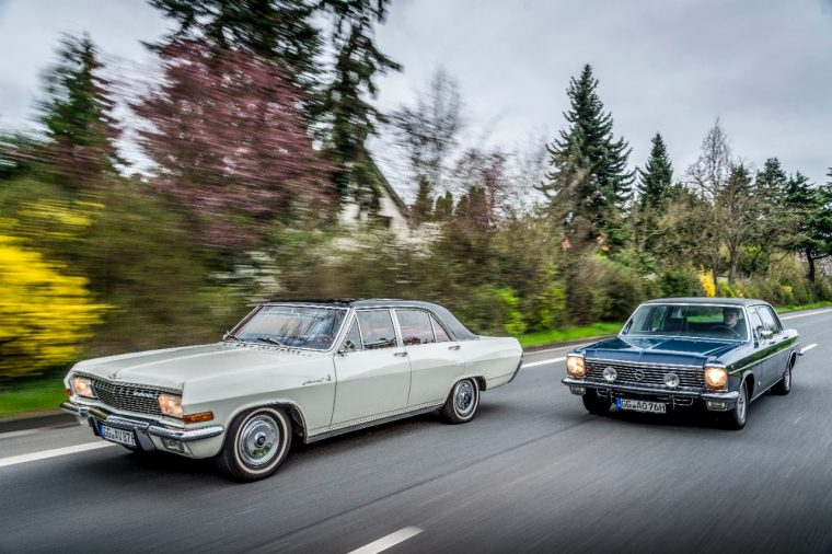 1966 Opel Admiral A V8 and 1976 Opel Diplomat B V8 extended wheelbase