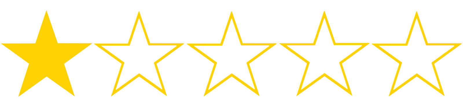 Image result for 1 star out of 5