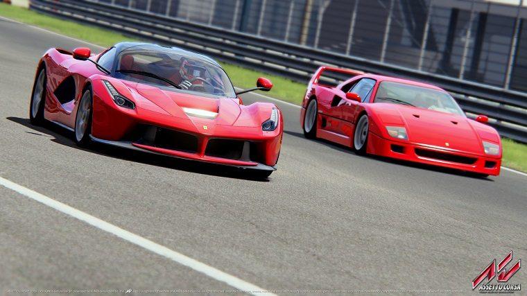 LaFerrari and Ferrari F40 in Assetto Corsa