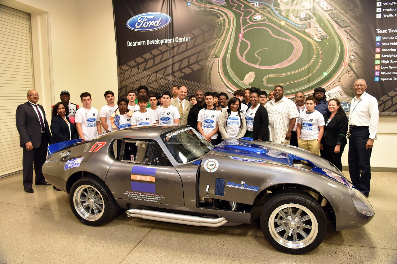 Build A Car From Scratch >> Detroit High Schoolers Build a 1965 Ford Daytona Coupe ...