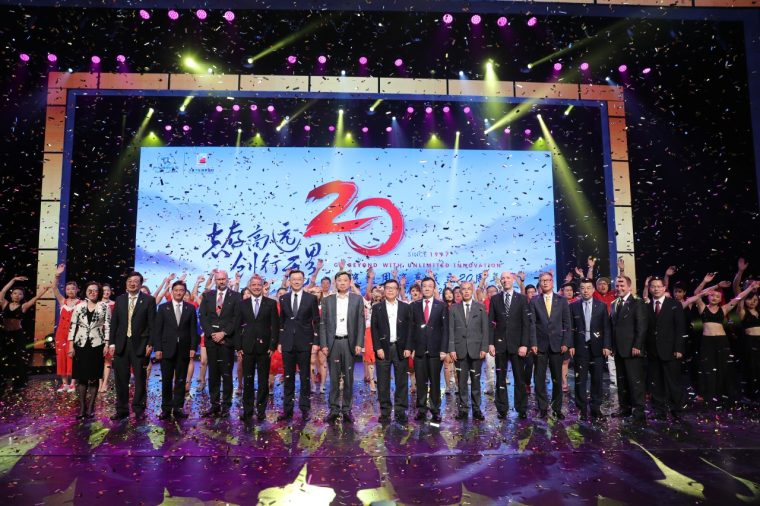 GM celebrated the 20th anniversary its joint ventures in China with SAIC