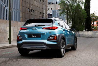 Hyundai Kona compact SUV new crossover vehicle model photos rear design