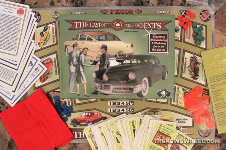 Last of the Independents car history board game review Numbskull picture box
