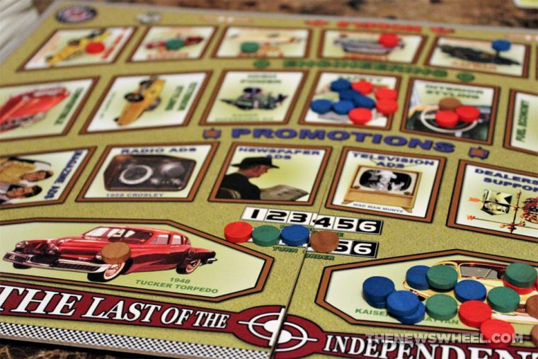 Last of the Independents car history board game review Numbskull picture tiles
