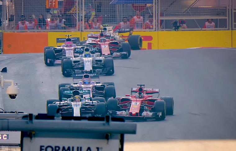 Vettel Bumps Hamilton in Baku