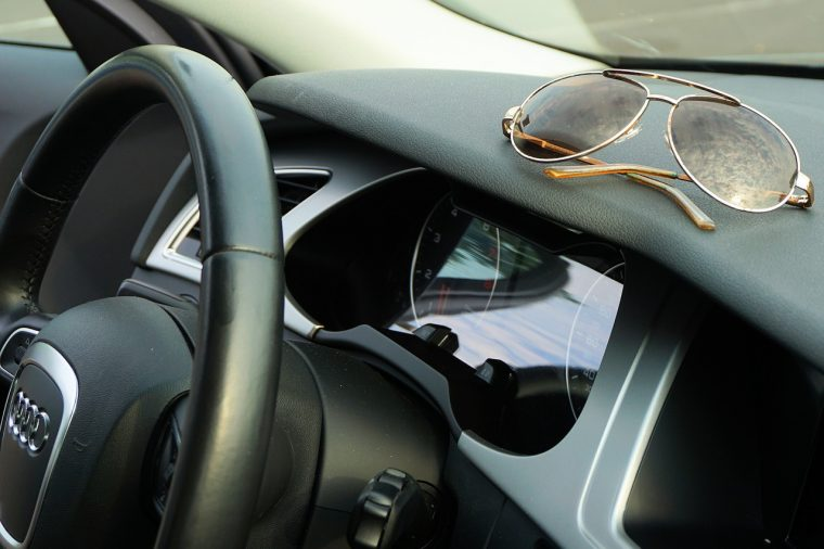 Sunglasses in Car