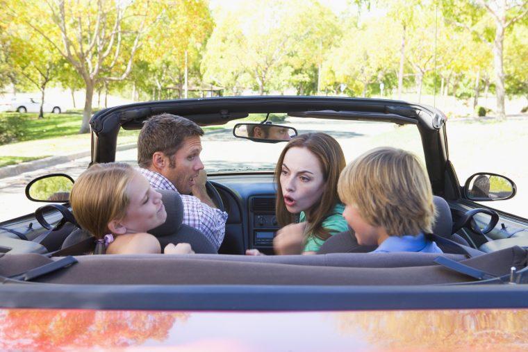 Family Arguing in Car